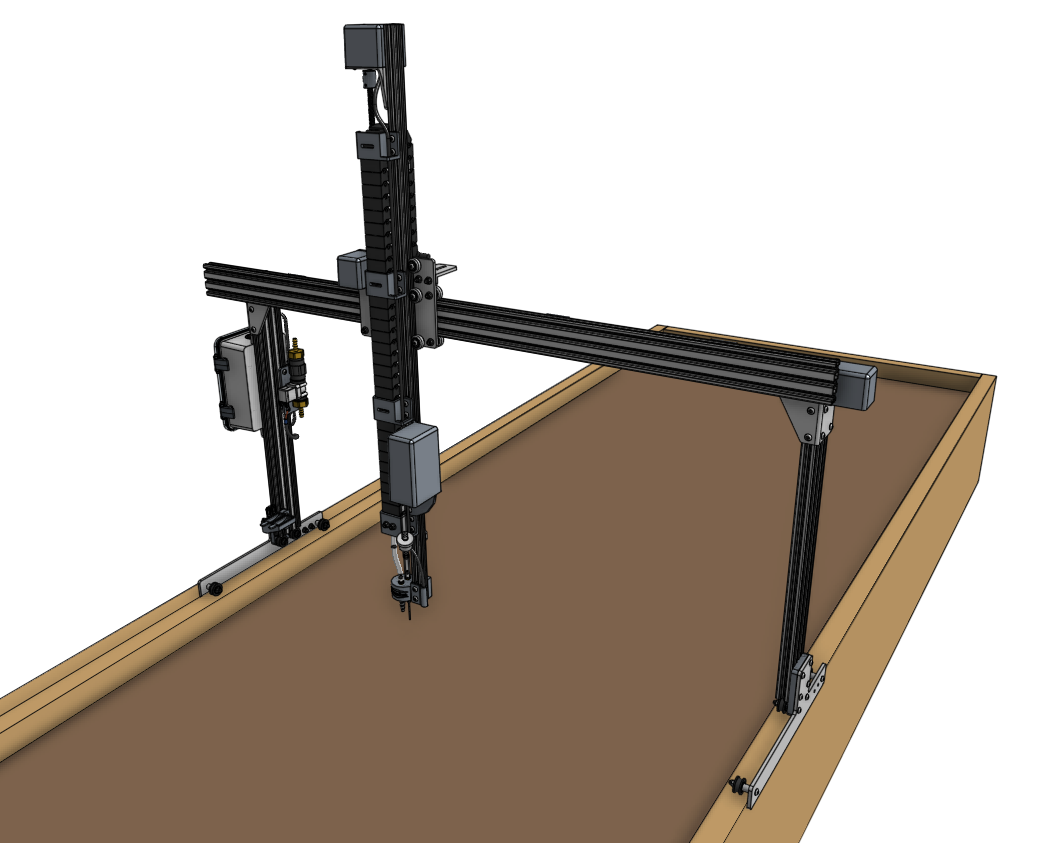 cross slide and z axis on beam