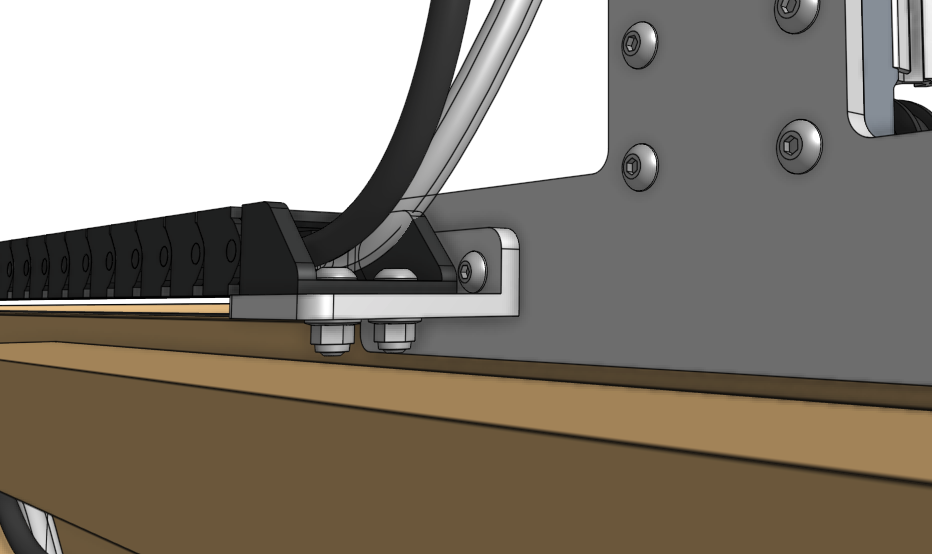 x axis cable carrier gantry mount