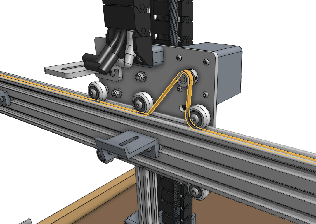 y axis belt pulley routing
