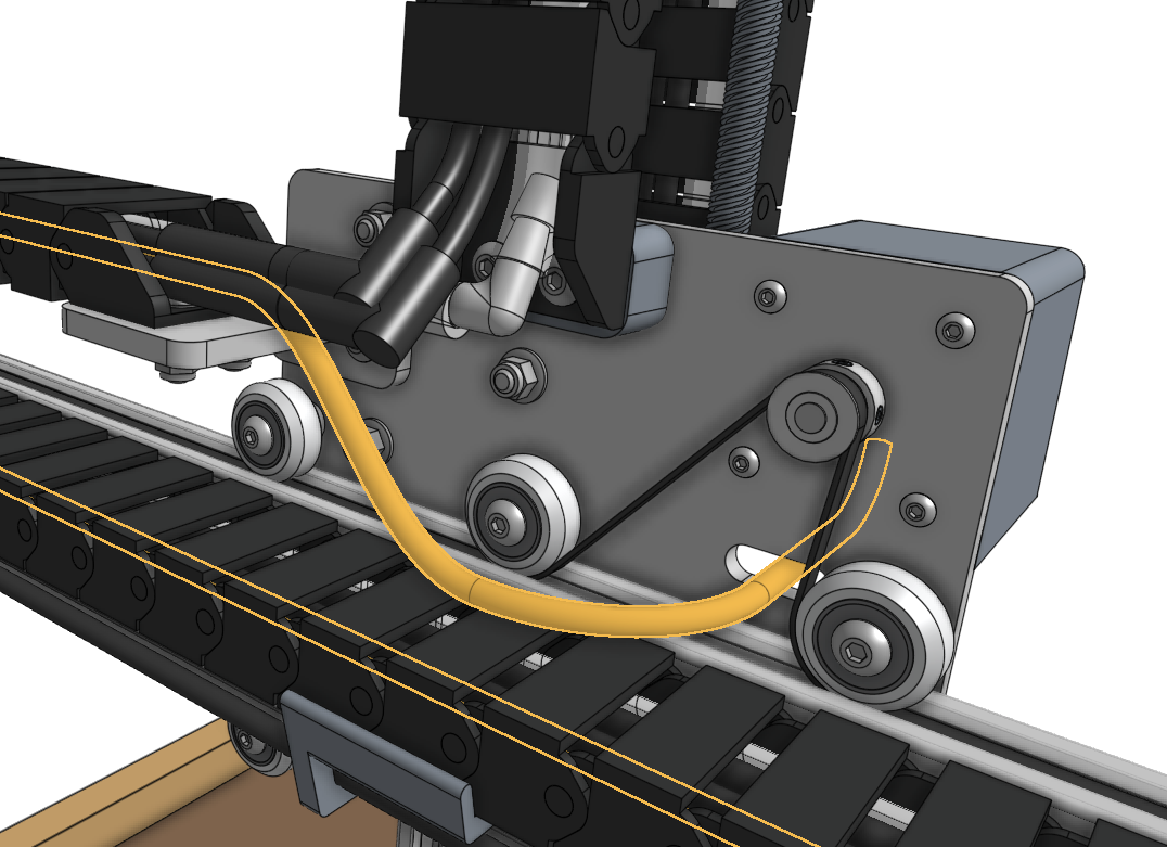 y axis motor cable highlighted